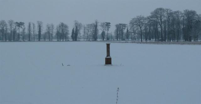 Elizabeth Woodcock Memorial in the snow 2013